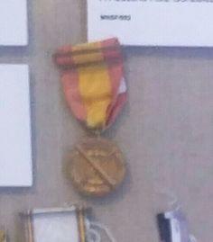 Medalla de tiro de cañón. M N de San Fernando (Cádiz)