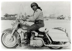 "Bessie Stringfield. In the 1940s, ""The Motorcycle Queen of Miami"" broke down barriers for women and African American motorcyclists.   Completed eight solo cross-country tours and served as a U.S. Army motorcycle dispatch rider."