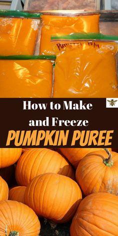 Fresh Pumpkin Recipes, Homemade Pumpkin Puree, Pureed Food Recipes, Pumpkin Soup, Canning Recipes, Fall Recipes, Pumpkin Spice, Canning Pumpkin Puree, How To Puree Pumpkin