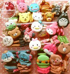 Kawaii Macaroon Macarons Disney tsum.  Kitty mymelody