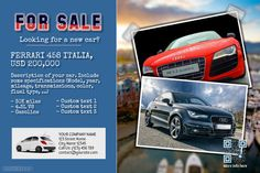 Car for sale flyer - Vintage style http://www.postermywall.com/index.php/poster/view/8ddd66c56279081c18c55f8379fa604c