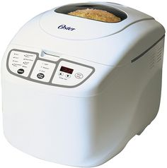 Use these 3 bread machine recipes every week in your Oster 2 Pound Expressbake Breadmaker to save time and money. white loaf, pizza dough, and whole wheat bread recipe. Oster Bread Machine Recipe, Best Bread Machine, Bread Maker Machine, Bread Maker Recipes, Bread Machines, Gf Recipes, Recipies, Healthy Recipes, Specialty Appliances