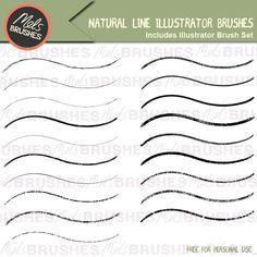 Natural line illustrator brushes. Get them free here.. http://www.melsbrushes.co.uk/?p=2473