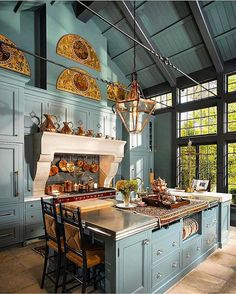 Beautiful French Country Kitchen Design And Decor Ideas - A kitchen can be more than just about its role in function, organization and efficiency. Kitchens need a personality and a look and feel that can live. Conservatory Kitchen, House Design, Home, Kitchen Remodel, House Interior, Country Kitchen Designs, Home Kitchens, Home Interior Design, Kitchen Design