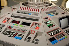 80s TARDIS console close-up. Looks as though it was made by Nintendo.