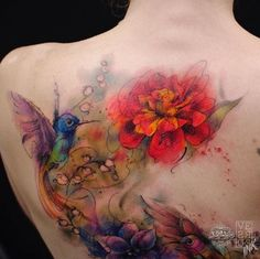16 Watercolor Tattoos That Are Serious Works Of Art