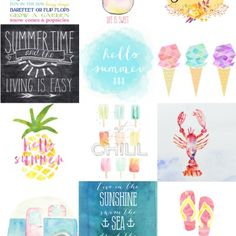 15 Free Printables for Little Girl's Rooms Printable Planner, Printable Wall Art, Planner Stickers, Free Printables, Printable Quotes, Smash Book, Free Summer, Summer Fun, Diy And Crafts
