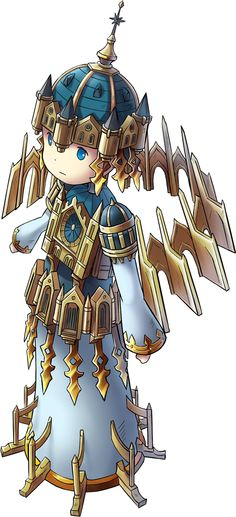 The Wandering Basilica Drawing Ideas, Chibi, How To Look Better, Heaven, Clock, Concept, Game, Fictional Characters, Style