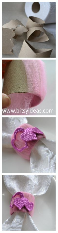 Diy napkin rings for Valentine's Day