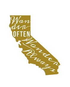 California State Print  Travel Quote by WanderWonderShop on Etsy, $9.00