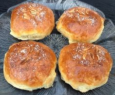 Boller med makronfyld Great Recipes, Favorite Recipes, Cooking Cookies, Sandwiches, Bread Bun, Sweets Cake, Sweet Bread, Bread Baking, Baking Cakes