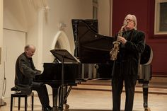 Saxophonist John Harle and pianist Steve Lodder performing at St Gregory's Centre on day six of Sounds New Image: Peter Cook Peter Cook, Centre, Music, Image, Musica, Musik, Muziek