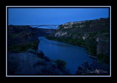 A long spring evening in the Snake River Canyon as seen near Perrine Bridge in Twin Falls. ~Photo by Ashley McKay