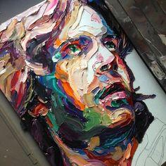 Joshua Miels-love this painting styls Painting Inspiration, Art Inspo, Knife Art, Guache, Arte Pop, Portrait Art, Portraits, Art Sketchbook, Art Techniques