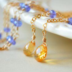 Reserved  Custom Tanzanite and Citrine Bracelet in by livjewellery, $84.00