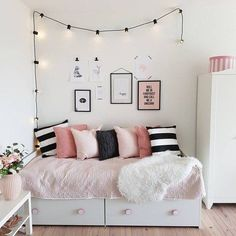 10 Best Pink & Black bedrooms images | Girl room, Bedroom ...
