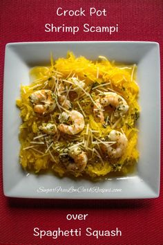 slowcooker-crockpot-shrimp-scampi-spaghetti-squash. This looks amazing! Can't wait to try!