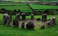 Drombeg stone circle also known as The Druid's Altar - Co. Cork, Ireland