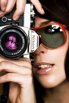 Nikon, camera, sunglases,portrait