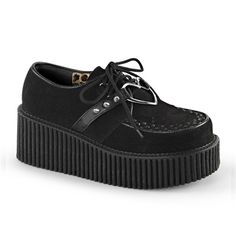 Black Studded Creeper Shoes @ SinisterSoles.com