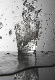 Splash, Glass of Water, Photography Sintlucas