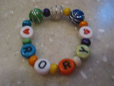 Colorful Boy ID name bracelet Retro letters Basketball by RNNan13, $3.00 Baby Items For Sale, Name Bracelet, Basketball, Beaded Bracelets, Trending Outfits, Letters, Unique Jewelry, Colorful, Handmade Gifts
