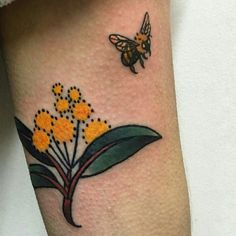 The first of many to come from the talented Tan in Fitzroy, Melbourne AUS. Little native Australian wattle and busy bee