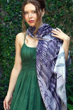 Not only is this silk scarf sexy and stylish, but also comfortable and functional!