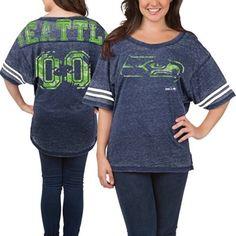 3fe261f7a Seattle Seahawks 5th  amp  Ocean Women s Burnout Oversized T-Shirt –  College Navy Seattle