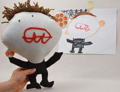 custom plush based on a child's drawing!! i can't wait until he can draw!!