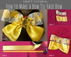 How to make hair bows in three easy styles - then change them, stack them, and add embellishments for a look that is perfect for the girls in your life! Bow Tie Hair, Ribbon Hair Bows, Diy Hair Bows, Diy Bow, Diy Ribbon, How To Make Hair, How To Make Bows, Make A Bow Tie, Pinwheel Bow