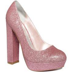Paris Hilton Shoes, Daria Platform Pumps ($62) ❤ liked on Polyvore featuring shoes, pumps, heels, pink, platform shoes, chunky-heel pumps, high heel platform pumps, pink pumps and pink platform pumps
