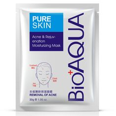 BIOAQUA Acne Treatment Facial Mask Effective Removal Acne Face Mask Moisture Nourishing Oil Control Mask Sheet For Man/Woman 30g