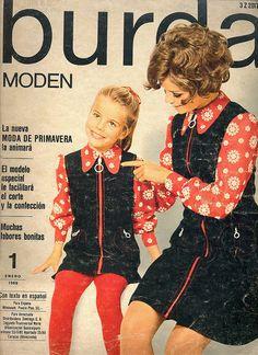 German Fashion Magazine:Burda Moden,January 1969.