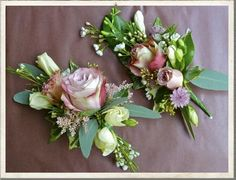 wedding corsages, vintage china, vintage wedding flowers, vintage bridal ideas