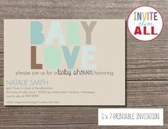 Baby Love- Baby Shower Invitation. $16.00, via Etsy.