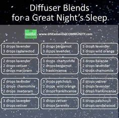 Sleep blends
