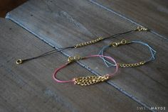 swellmayde: DIY | Chain Bracelet (Part 2) Could make this with the leftover chain I have from other craft projects!