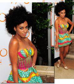 african print dress   Tumblr