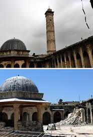 Aleppo Mosque before & after - I mourn the loss of ancient treasures one of the greatest casualties of Middle East wars. Proliferous breeding of humanity - overpopulating & threatening the health of our planet - makes rats look like a pleasant species. Some psychos, especially religious psychos, worry about infertility. Infertility is NOT one of the threats to humanity; overpopulation, famine, starvation, disease, inequality, capitalism, patriotism, war, & religion are - but not infertility.