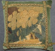 Antique French Hand Woven Aubusson Verdure by FromAFrenchAttic, £65.00