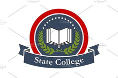 State college emblem design by Vector Tradition SM on @creativemarket