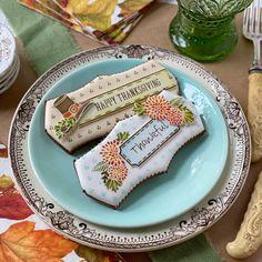 Thanksgiving Place Card Dynamic Duos Cookie Stencil Set - Bundle Set With Denver Cutter