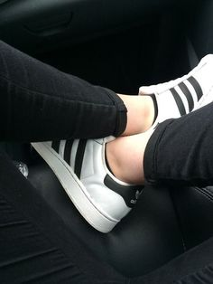 Black white Adidas sneakers