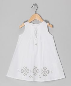 Take a look at this White & Gray Heart Dress - Infant, Toddler & Girls by Donita on #zulily today!