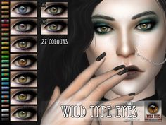Sims 4 CC's - The Best: Eyebrows, Lipstick & Eyes by RemusSirion