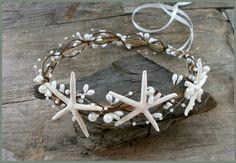 Beach Wedding Crown Starfish Crown Seashell Tiara by VesyArtstudio