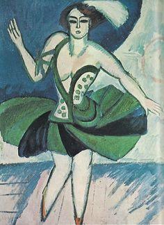 Ernst Ludwig Kirchner, Dancer, 1912