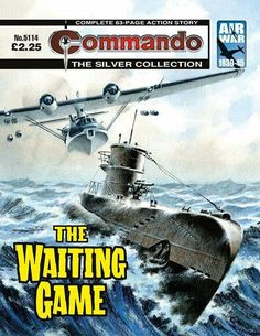 """Commando """"The Waiting Game"""" [Air War] Ian Kennedy, Action Story, War Comics, Comic Covers, Albums, Waiting, Game, My Love, Movie Posters"""