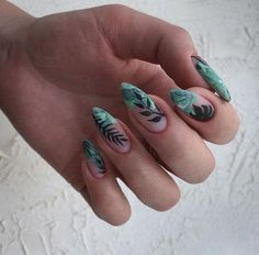 They could be more wonderful if incorporated with your creativity into the design.This post to show super cute Mint nail designs! If you like mint nails, click image to view more。 Mint Nails, Aycrlic Nails, Blue Nails, Hair And Nails, Mint Green Nails, Green Nail Art, Mint Nail Designs, Dream Nails, Cute Acrylic Nails
